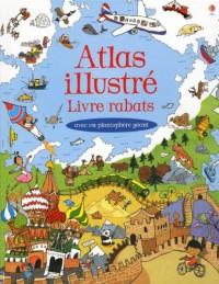 Atlas Illustre Livre Rabats - avec un Planisphere Géant
