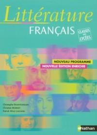 Littérature français : Classe des lycées