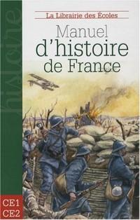 Manuel d'histoire de France CE1-CE2