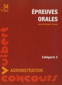 Epreuves orales : Catégorie C