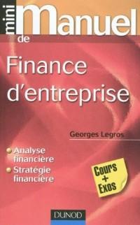 Mini Manuel de Finance d'entreprise