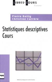 Statistiques descriptives : Cours