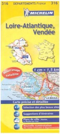 Loire-Atlantique, Vendée : 1/150 000