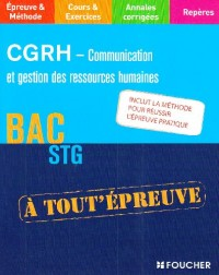 CGRH - Communication et gestion des ressources humaines bac STG