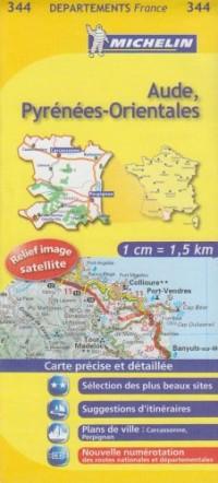 Aude, Pyrénées-Orientales : 1/150 000