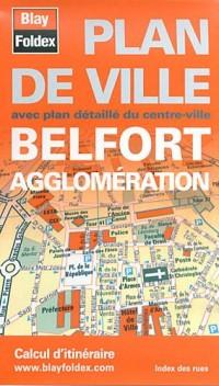 Plan de Belfort et de son agglomération
