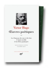 Hugo : Oeuvres poétiques, tome 3