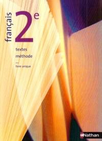 Français 2e : Textes, méthode