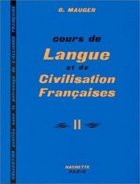 Cours de langue et de civilisation françaises II