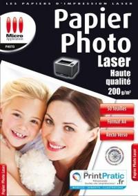 Micro Application - Papier créatif - Photo laser 200g/M2 - 50 feuilles