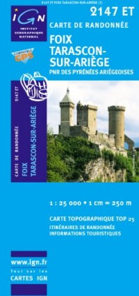 Foix Tarascon-sur-Ariège : 1/25000