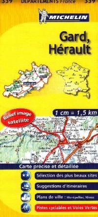 Gard, Hérault : 1/150 000