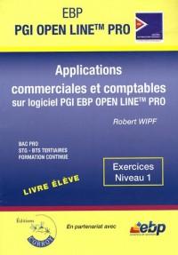 Applications commerciales et comptables sur PGI EBP Open Line Pro : Exercices Niveau 1