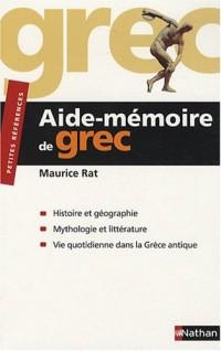 Aide-mémoire de grec