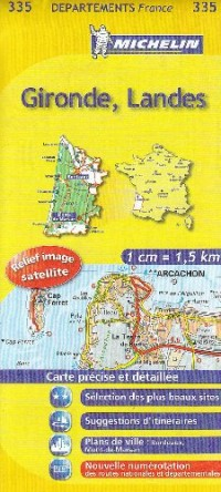 Gironde, Landes : 1/150 000