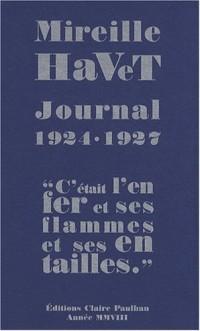 Journal 1924-1927 :
