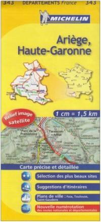 Ariège, Haute-Garonne : 1/150 000