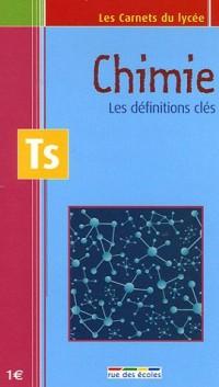 Chimie Tle S : Les définitions clés