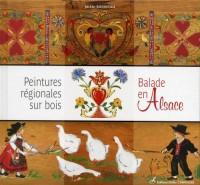 Peintures régionales sur bois : Balades en Alsace