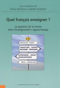 Quel français enseigner?