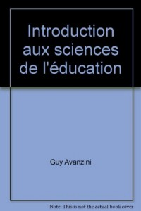 Introduction aux sciences de l'education