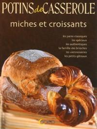 Miches et croissants. Les pains classiques, spéciaux, authentiques, brioches viennoiseries, petits gateaux.