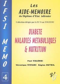 Diabete maladies metaboliques nutrition