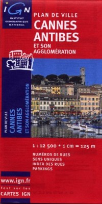 72360 Plan de Cannes/Antibes 1/12.500