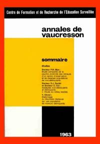 Annales de Vaucresson, numéros 1 à 10 et numéro 12