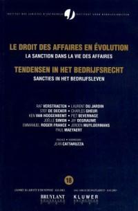 Le droit des affaires en évolution : La sanction dans la vie des affaires