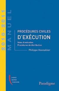 Procédures civiles d'exécution 2010-2011