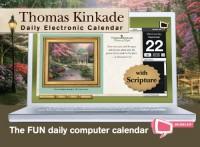Thomas Kinkade Painter of Light With Scripture Bubbles 2011 Electronic Calendar