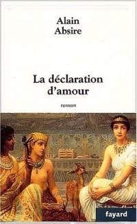 La declaration d'amour.