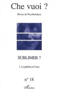 Che vuoi ? N° 18 / 2002 : Sublimer ? : Volume 1, La pulsion et l'acte