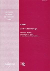 CAPET section technologie : Concours interne et concours d'accès à l'échelle de rémunération (CAER-CAPET)