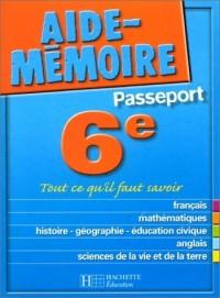 Aide-Mémoire Passeport : 6e - 11-12 ans
