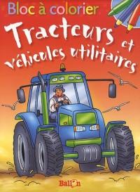 Bloc à colorier : Tracteurs et véhicules utilitaires