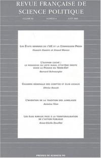 Revue française de sciences politiques, volume 53, numéro 4