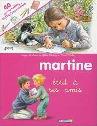 Martine écrit à ses amis (gommettes)