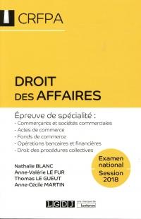 Droit des affaires CRFPA
