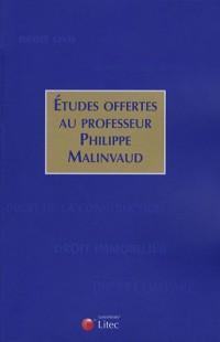 Etudes offertes au professeur Phillipe Malinvaud