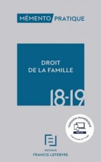 MEMENTO DROIT DE LA FAMILLE 18-19