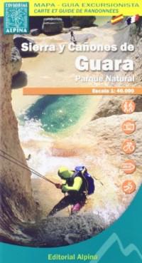 Carte et guide de randonnées : Sierra y Canones De Guara,  1:40000e