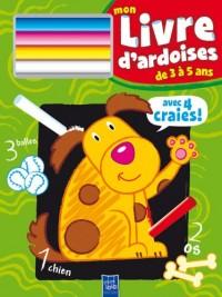 Mon livre d'ardoises de 3 à 5 ans (Chien)