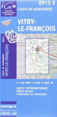 Carte de randonnée : Vitry-le-François