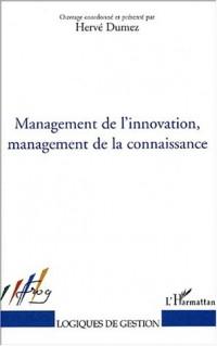Management de l'innovation management de la connaissan
