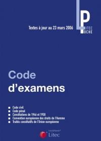 Codes d'examens : Textes fondamentaux, Code civil, Code pénal (ancienne édition)