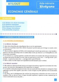 Economie générale BTS/DUT