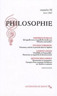 Philosophie, N° 96, Hiver 2007
