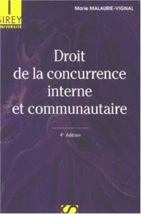 Droit de la concurrence interne et communautaire